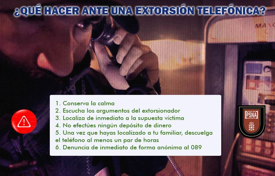 Post Extorsión telefónica